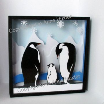Penguin Family Picture Box Template